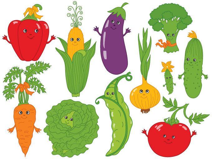 70% OFF SALE Vegetables Clipart.