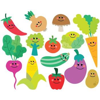Vegetables Clipart & Vector Set.