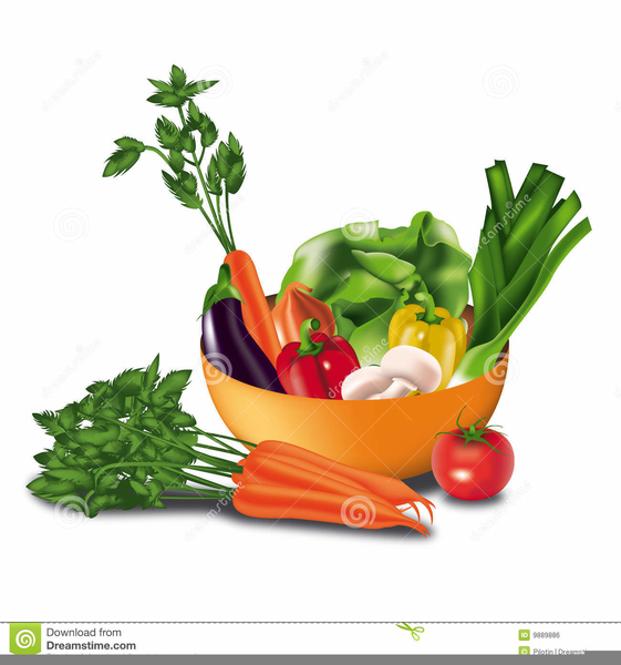 Fruits And Vegetables Basket Clipart.
