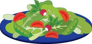 1743 Salad free clipart.