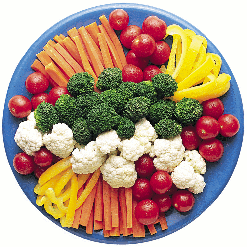 Vegetable Plate Clipart.