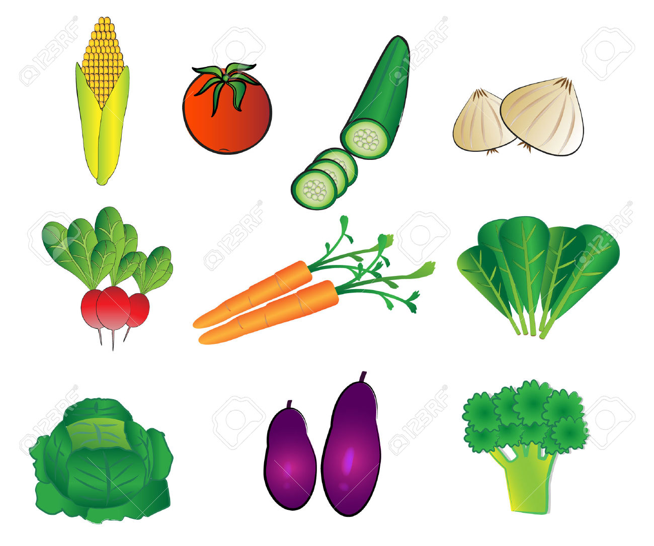 Vegetables Illustrations Royalty Free Cliparts, Vectors, And Stock.