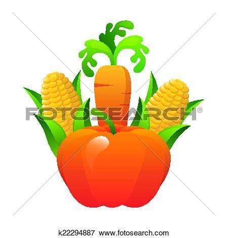 Clip Art of vegetal design k22294887.