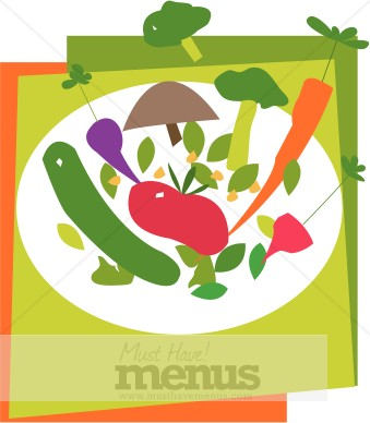 Vegetarian Clip Art and Menu Graphics.