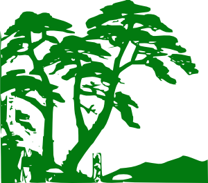 Green Trees Silhouette Clip Art at Clker.com.