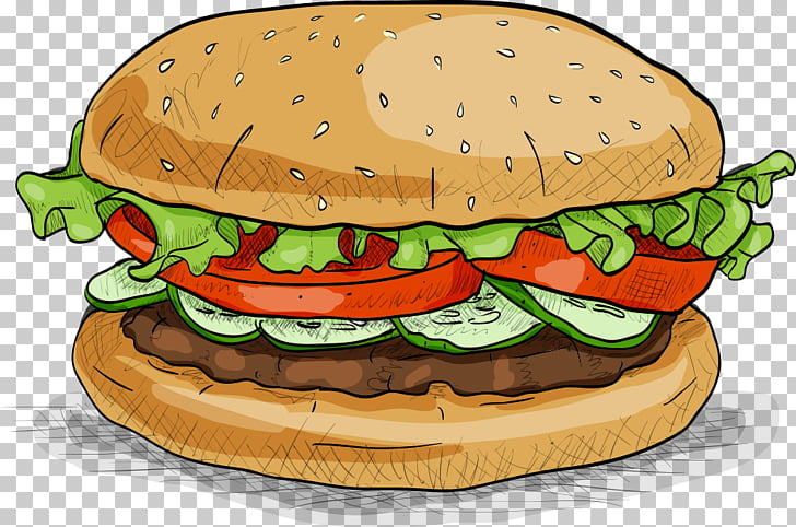 Hamburger Fast food Veggie burger, Delicious burgers.
