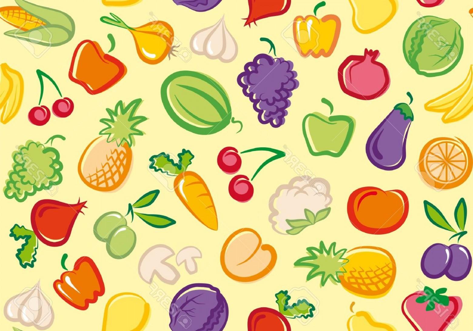 Vegetables clipart wallpaper, Vegetables wallpaper.