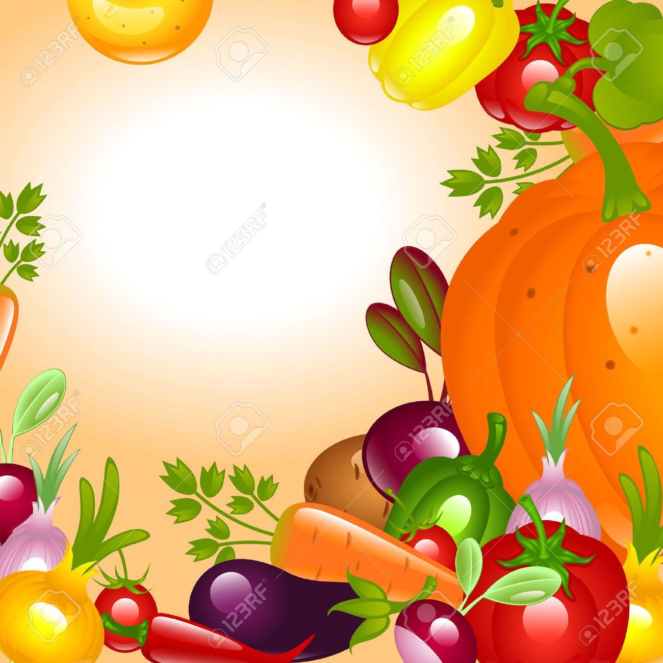 Vegetables Clipart Background.