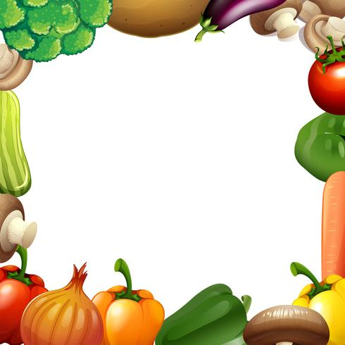 Border design with mixed vegetables.