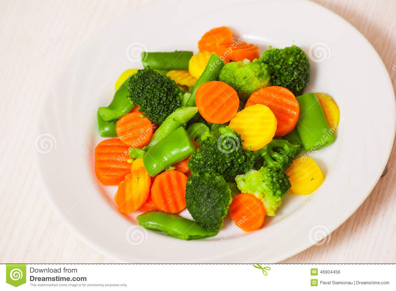 Plate Of Vegetables Clipart.