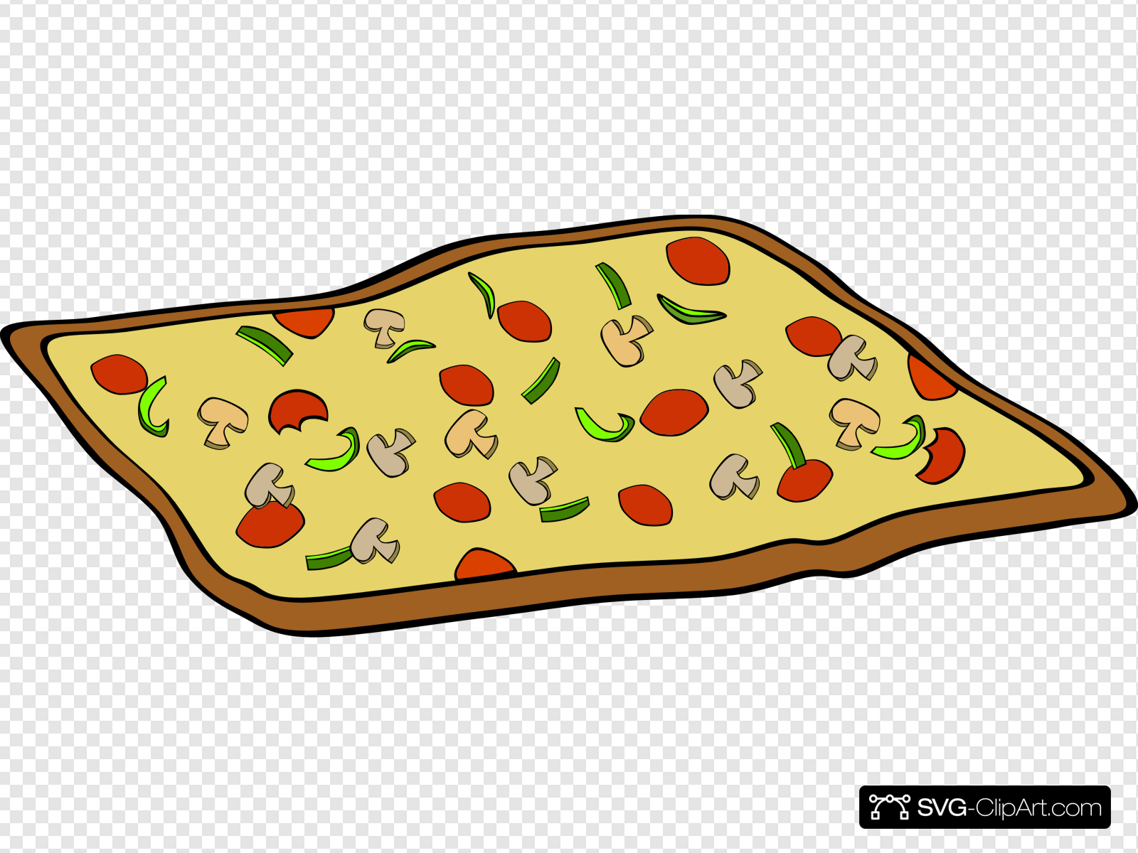 Rectangular Veggie Pizza Clip art, Icon and SVG.