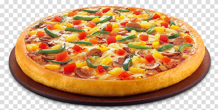 Pizza illustration, Pizza Margherita Vegetarian cuisine.