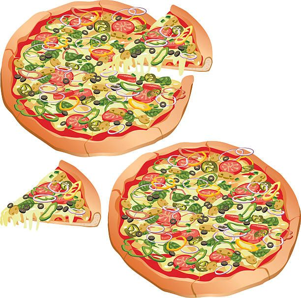 Image result for veggie pizza clipart.