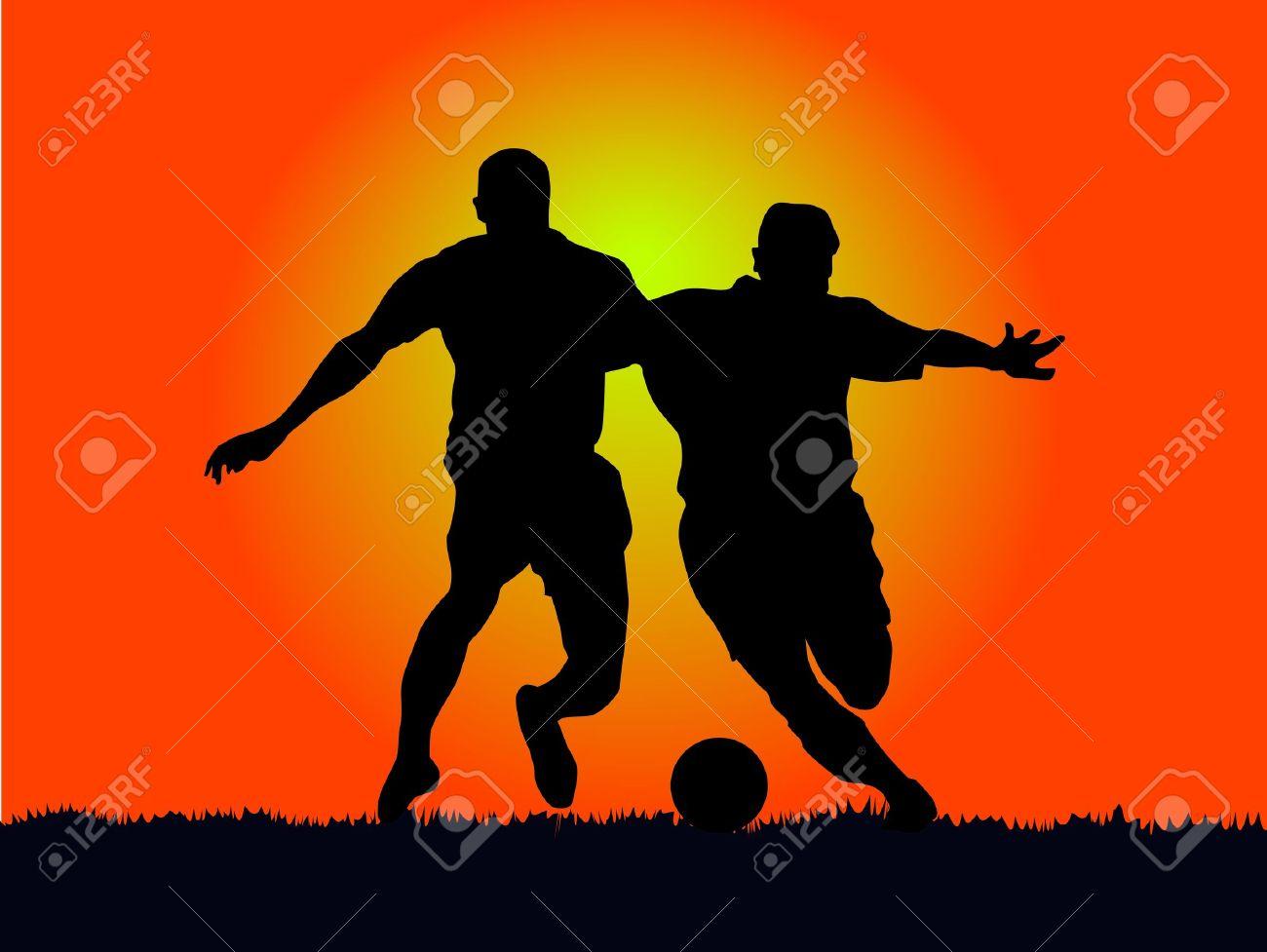 Football Athlete, In The Sun Resist Of Vehemence. Royalty Free.
