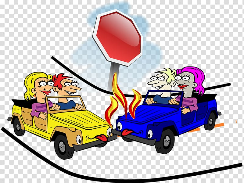 Traffic collision Accident Cartoon , intersection,Traffic.