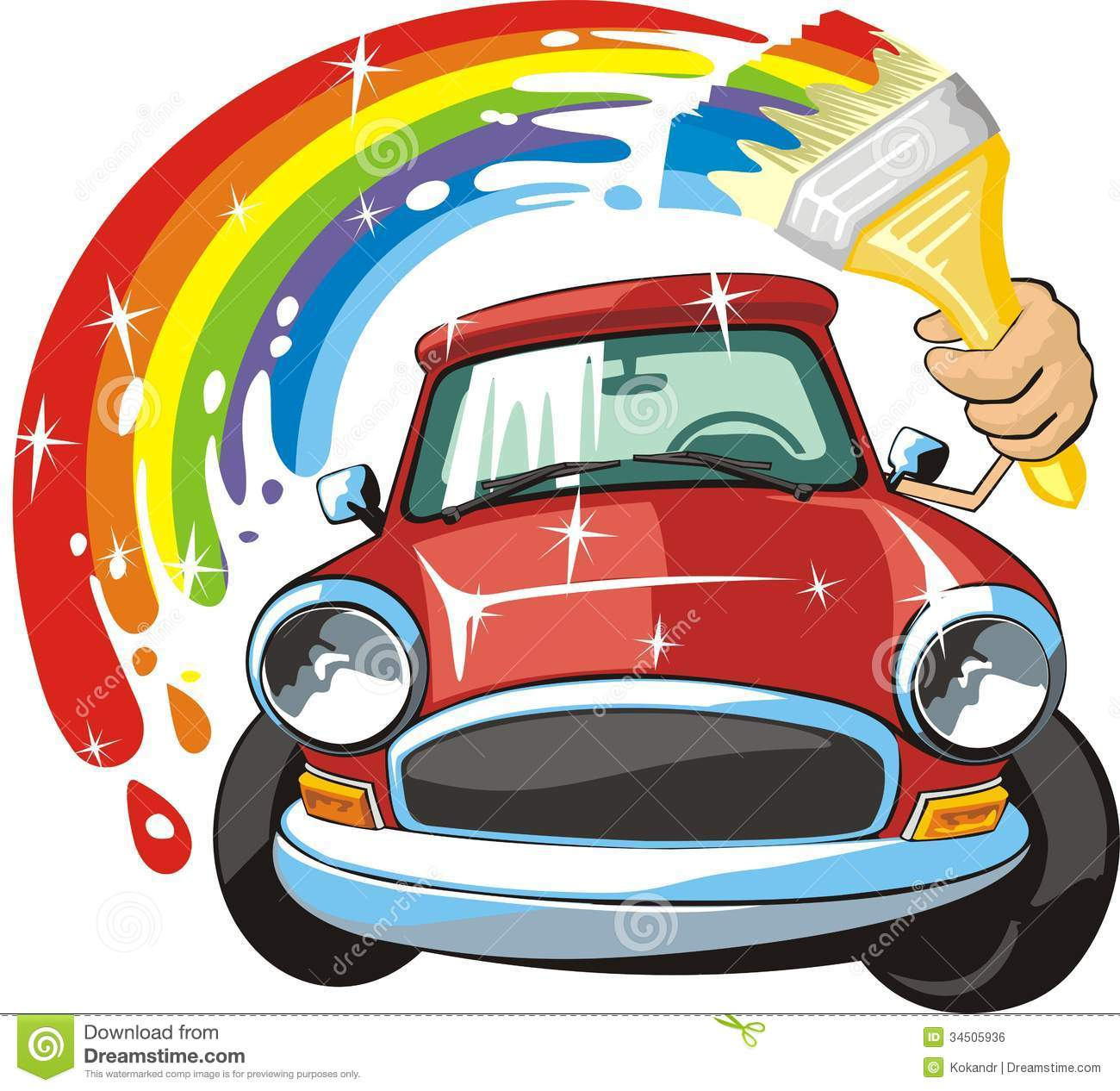 Car Body Paint Royalty Free Stock Image.