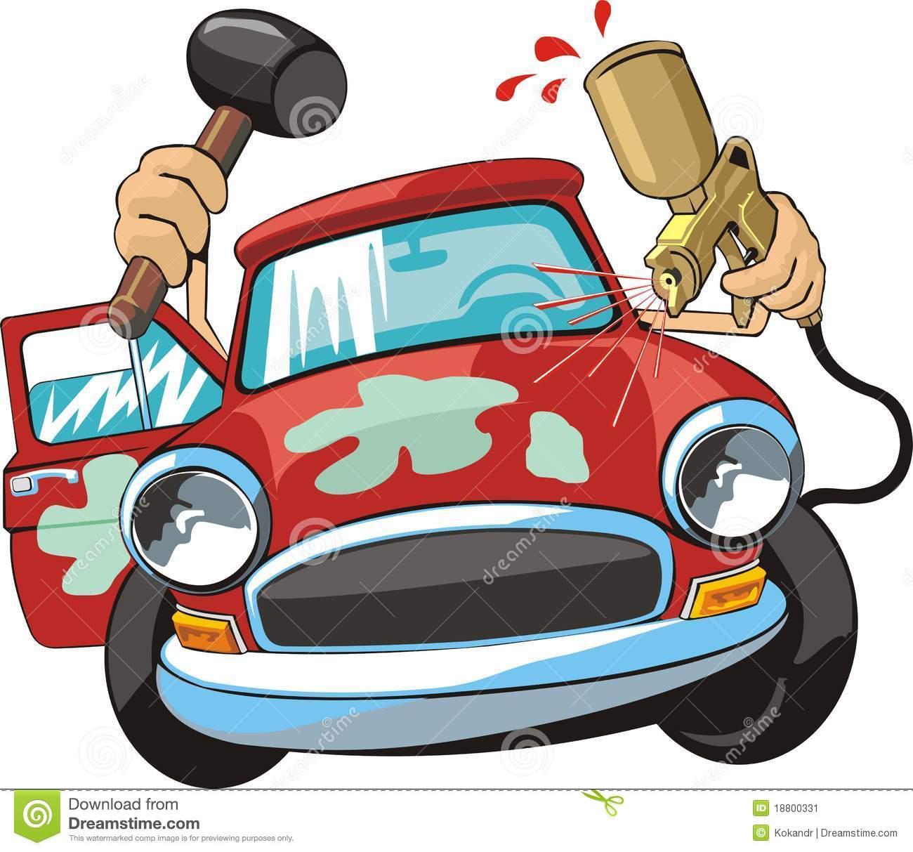 Car Body Repair Stock Image.