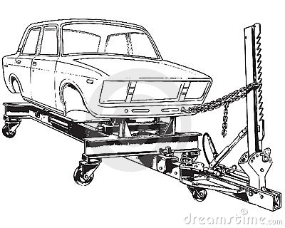 Stand For Alignment Of The Car Body Royalty Free Stock Image.