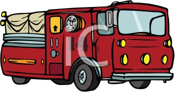 Cartoon of an Emergency Vehicle Firetruck.