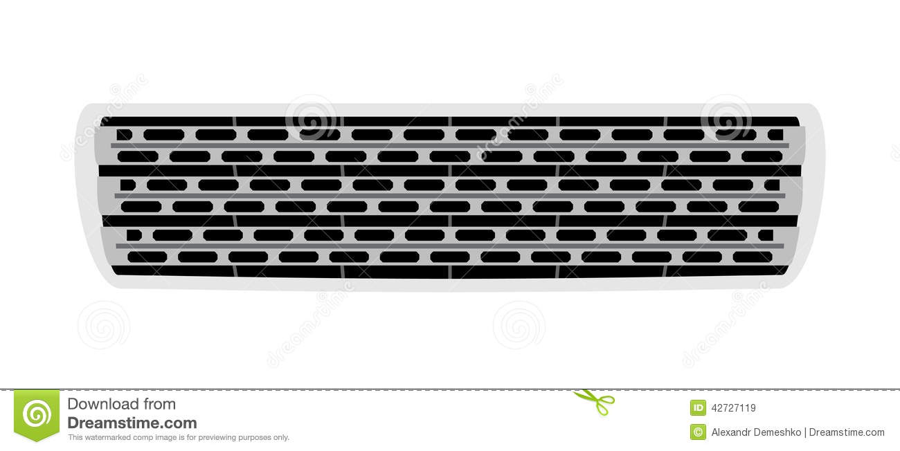 Car Grill Isolated On White Background. Vector EPS Stock Vector.