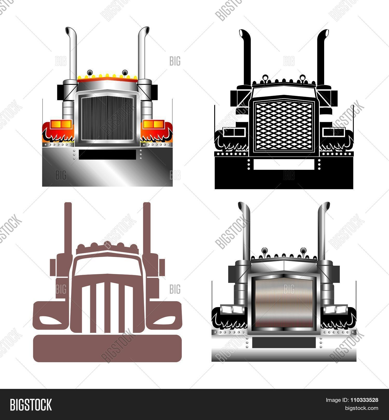 Vector Big Truck Grill Front illustration Stock Vector & Stock.