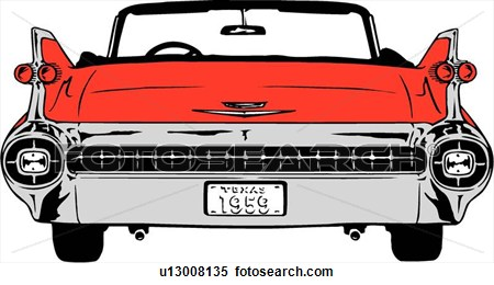 Front view muscle car grill clipart.