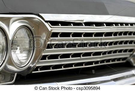 Stock Photo of Close up shot of car grill.
