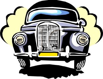Grill of a Cartoon Vintage Car.