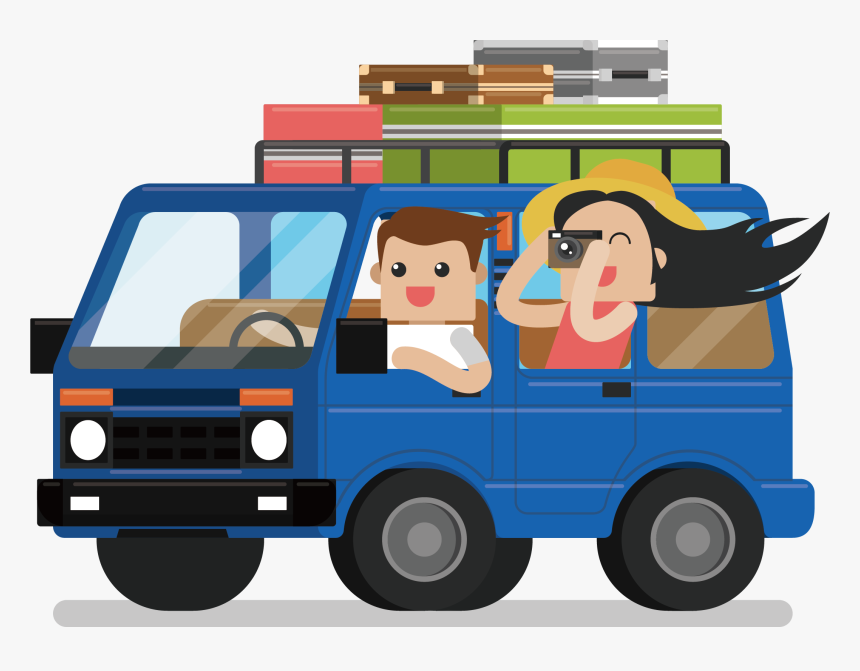 Hakodate Van Tourist Package Car Mount Luggage Clipart.