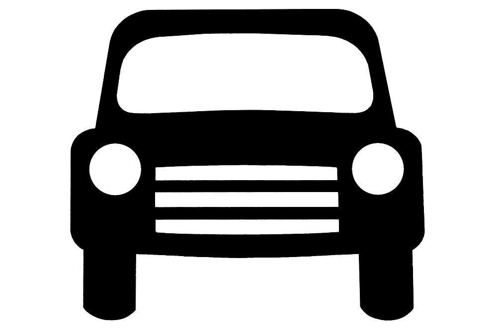 motor vehicle sign as clipart\