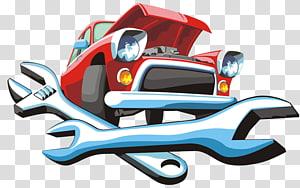 Cartoon Automobile repair shop Mechanic, AUTO MECHANIC.