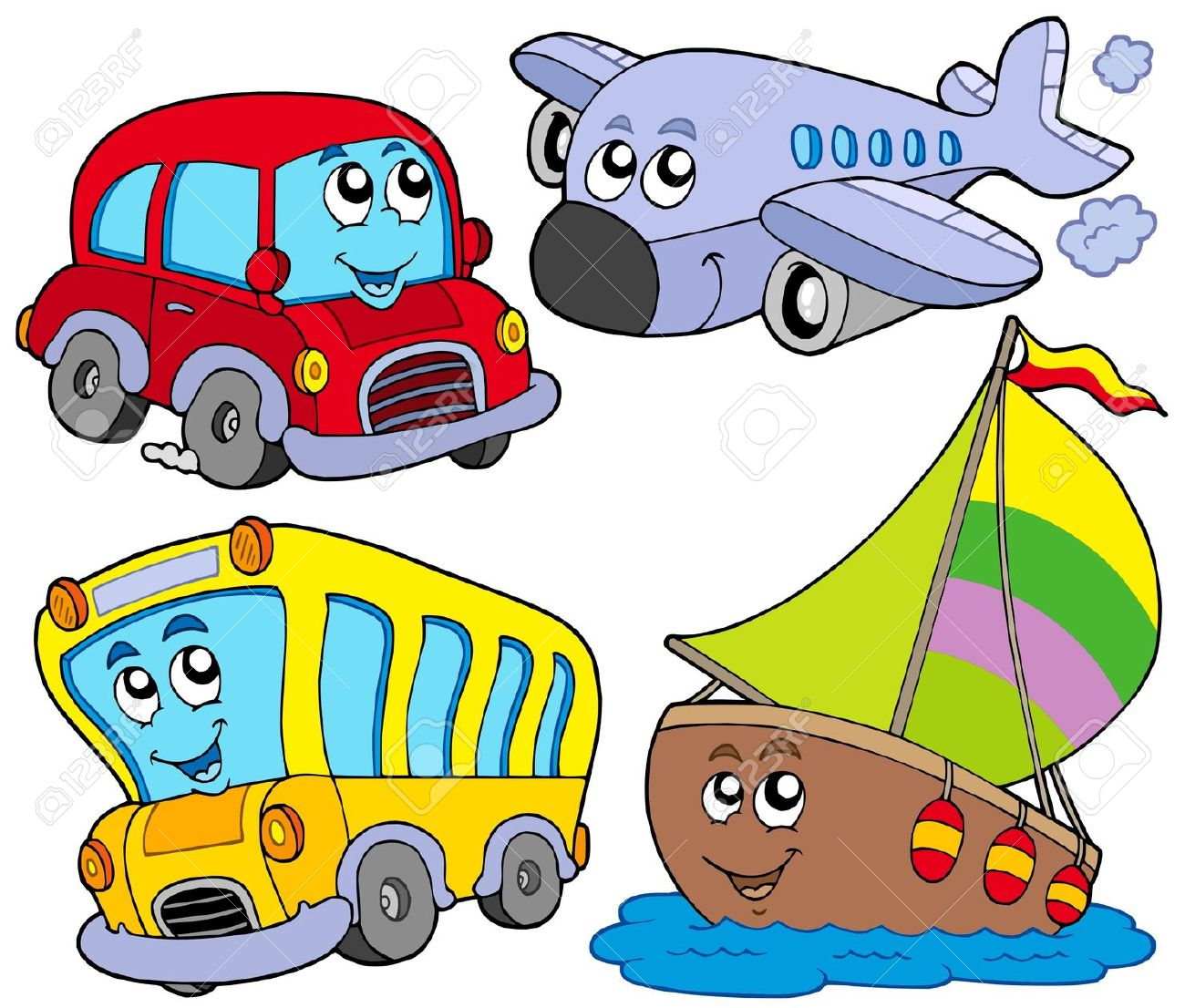 Vehicles clipart.