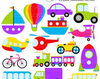 Transportation Vehicles Clipart.