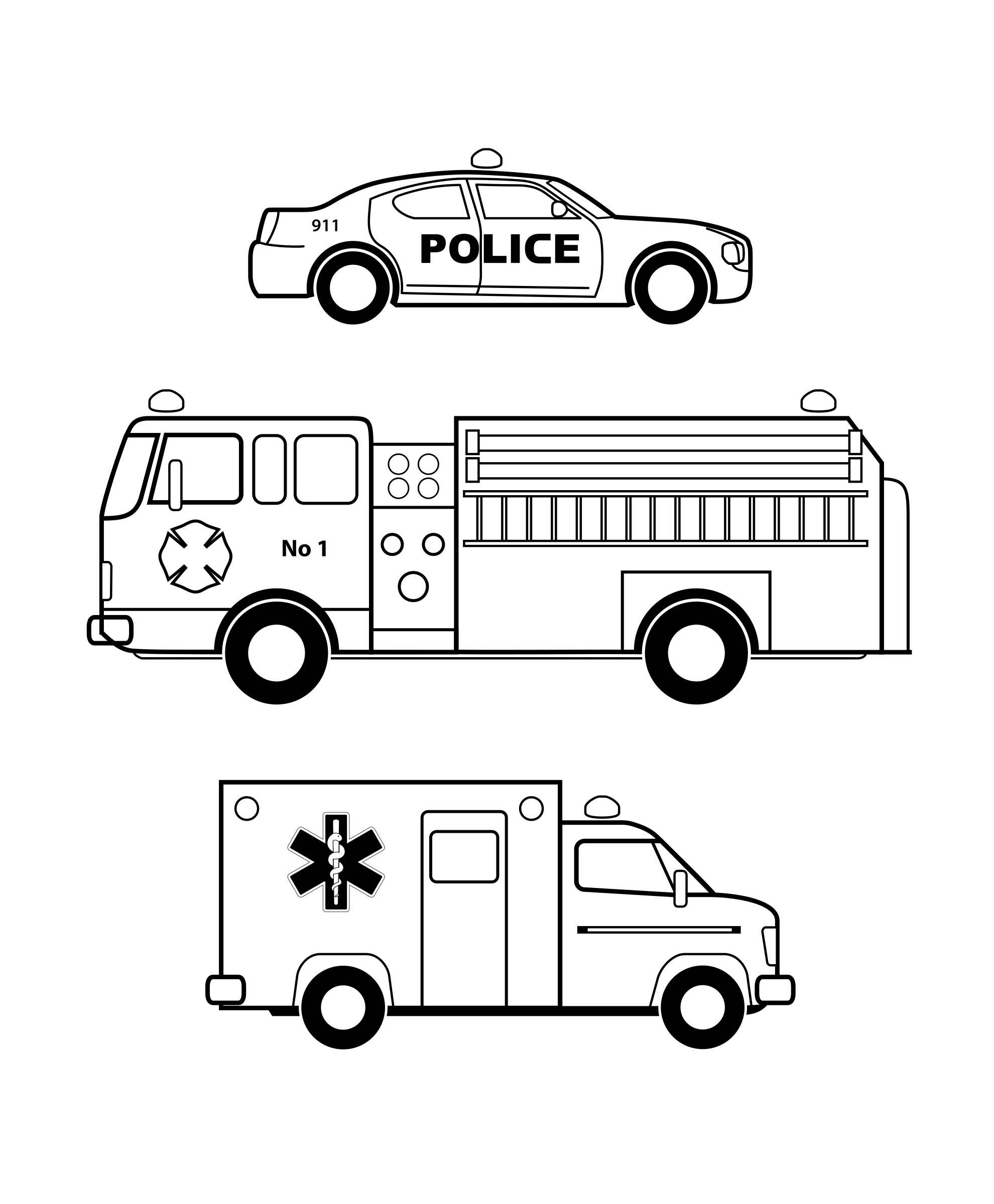 Clipart Black And White Vehicles.