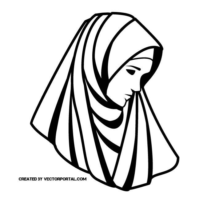 WOMAN WITH VEIL.