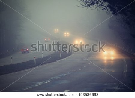 Driving In Fog Stock Photos, Royalty.