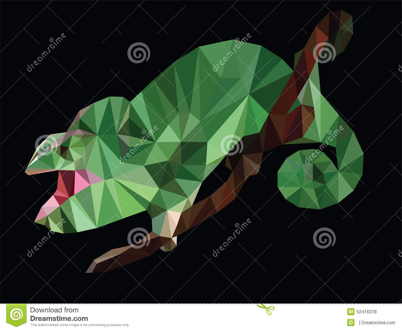 Veiled Chameleon Stock Illustrations.