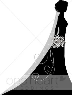 Veiled Bride Clipart.