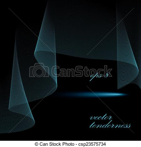 Vectors of 3d vector decorative background with curved transparent.
