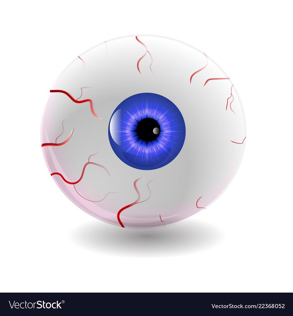 Halloween human eye eyeball with veins icon.