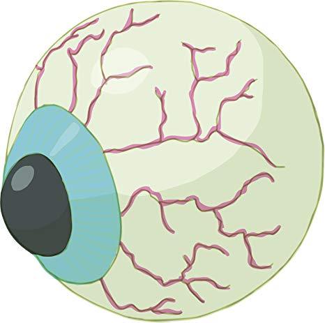 Amazon.com: Halloween Veiny Blue Eye Ball Cartoon Icon Vinyl.