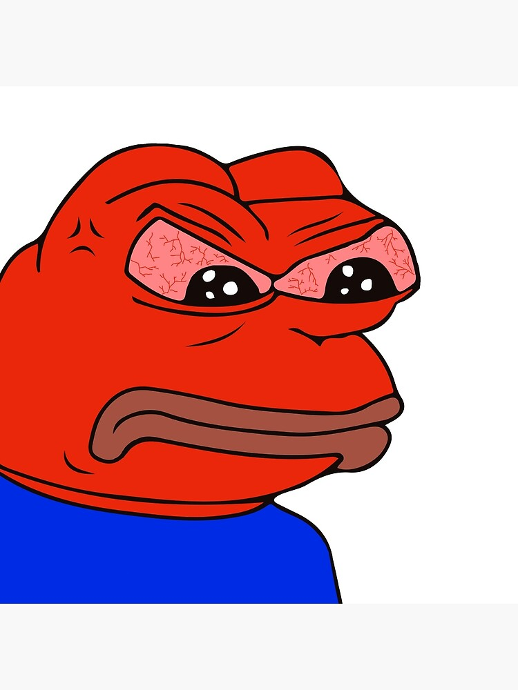 \'Angry Pepe The Frog Rare Kekistan Meme red face with veiny eyes mad raging  PepeTheFrog HD High quality Online store\' Art Board Print by iresist.