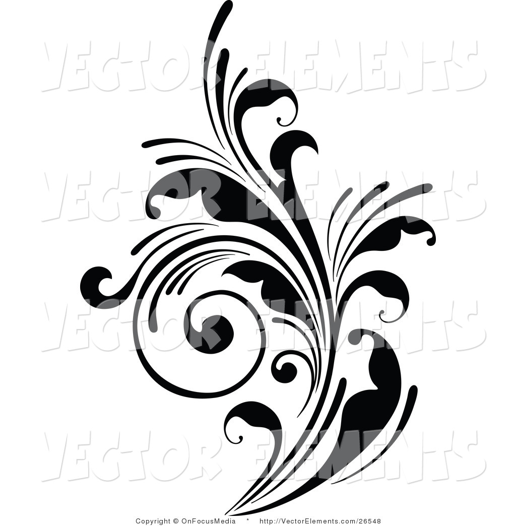 Royalty Free Stock Vector Designs of Flourishes.