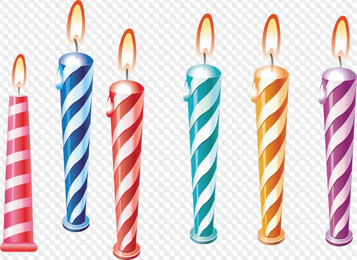 48 PNG, Vela de cumpleaños.