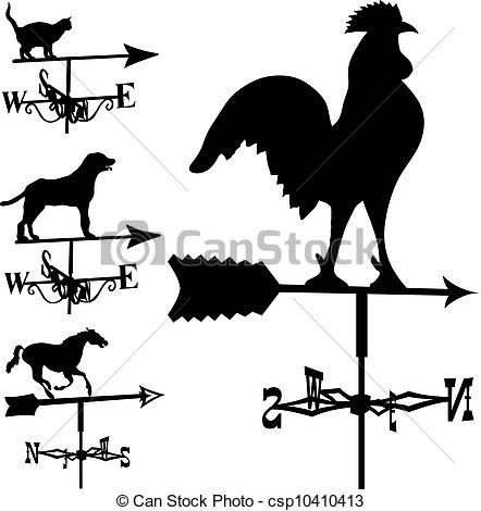Vector Clip Art of Weather Vane.
