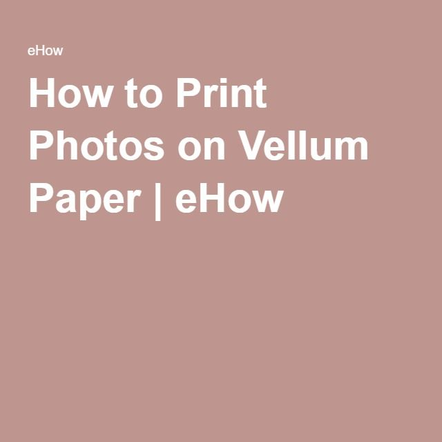 Clipart to print on vellum.