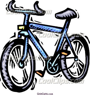 Child's bicycle Clip Art.