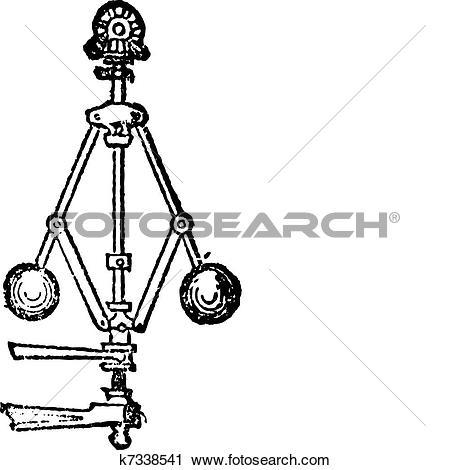 Clipart of Velocimeter, vintage engraving k7338541.