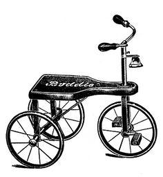 Free vintage bicycle clip art.