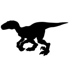 Velociraptor Silhouette Vector.